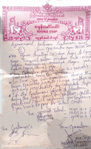 Reisevertrag Myanmar